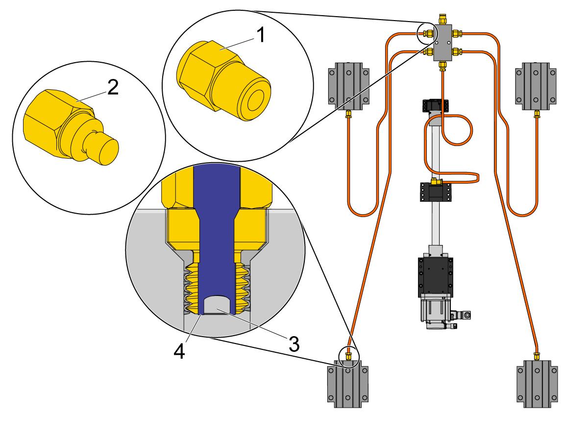 Sistema de lubricacion de una fresadora
