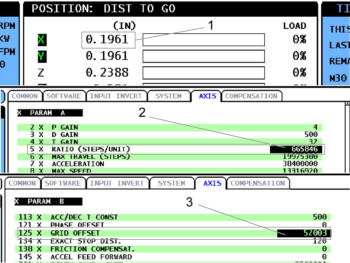 Axis Servo Motor - Set Grid Offset Parameter - CHC