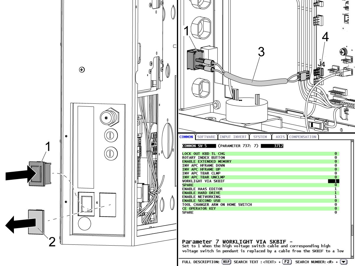 Work Light Kit - Installation - Mini Mill