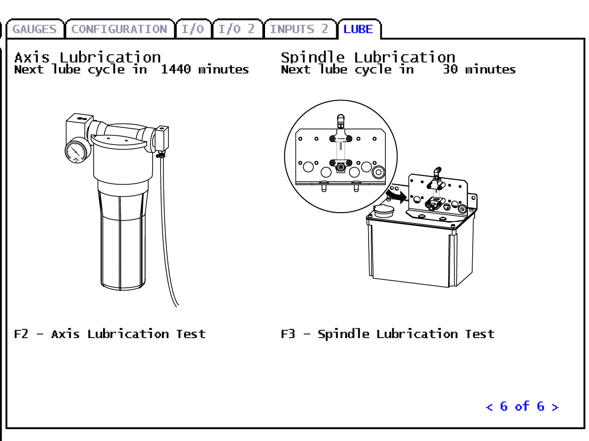 Axis-Lubrication System - Grease Reservoir - Prime and Test