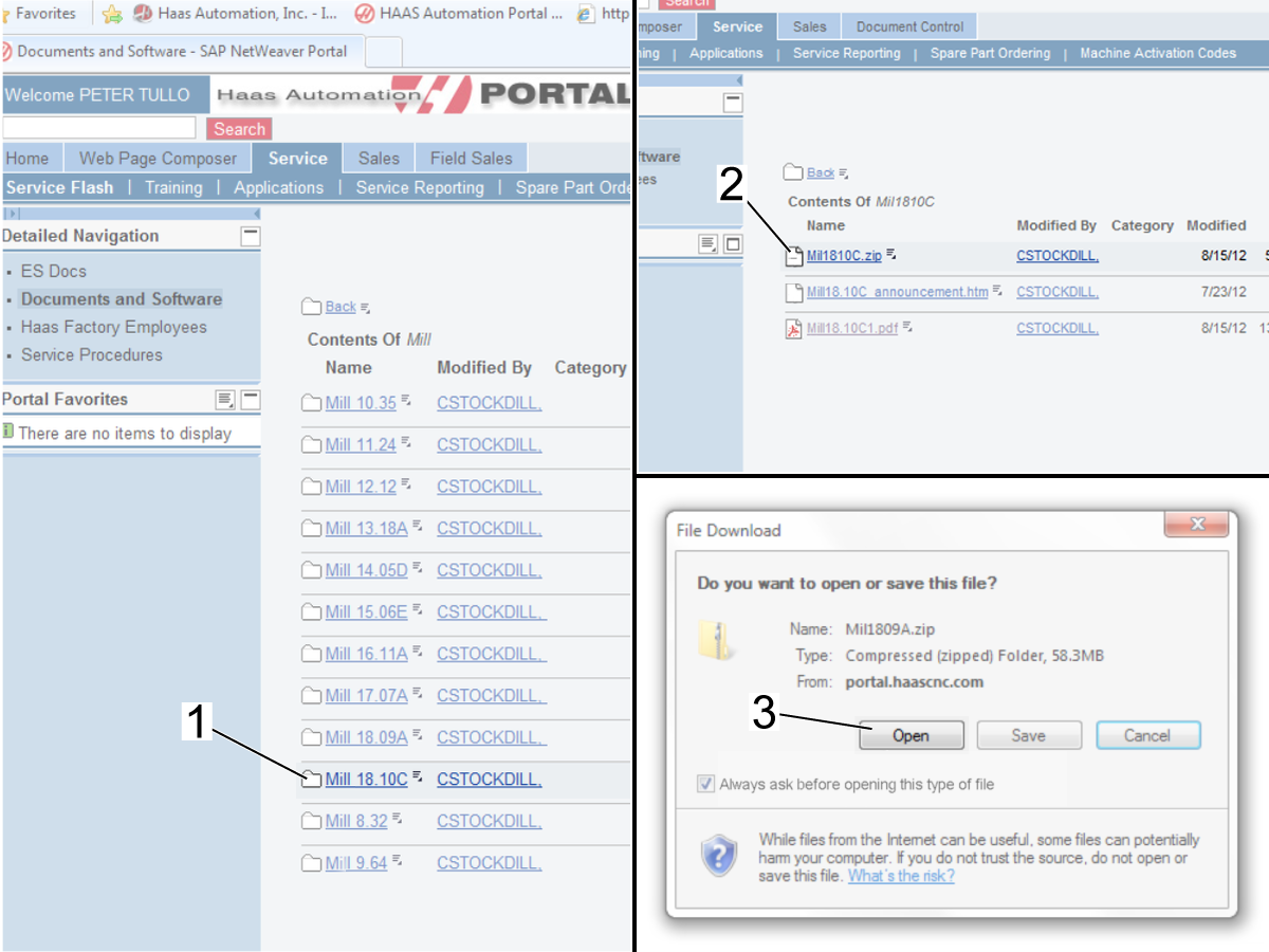 Software Available for Download from Haas Portal