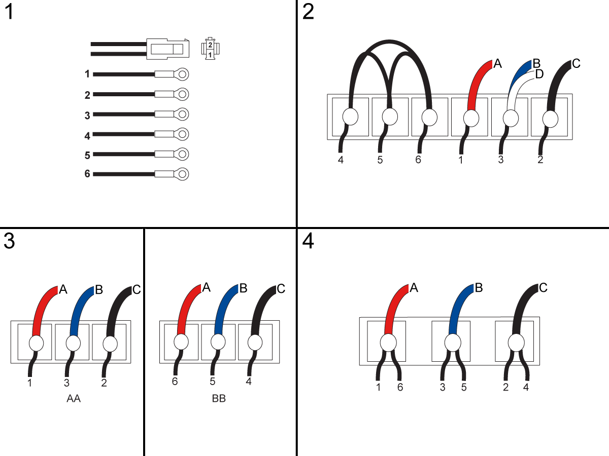 Spindle Motor Wiring Configurations on