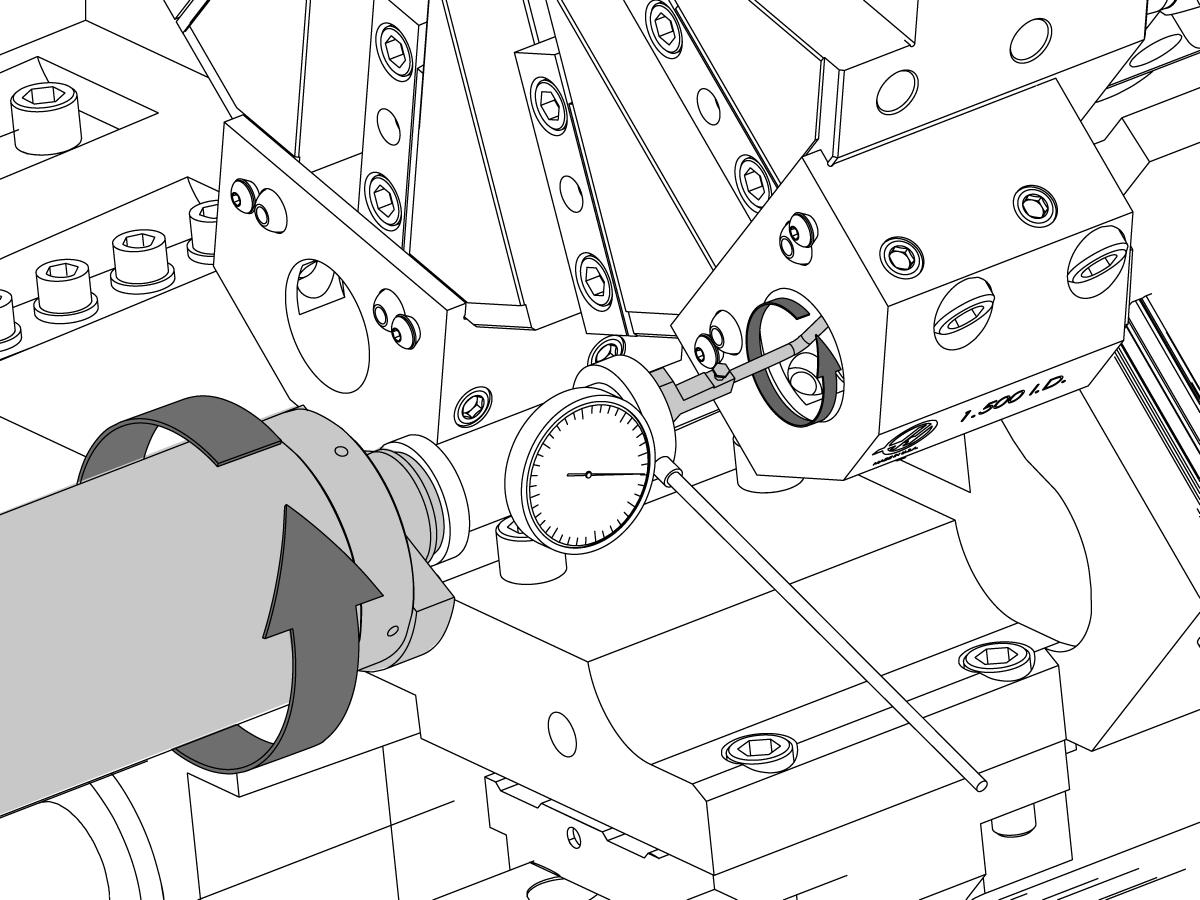 Drehmaschine Keine Y Achse Werkzeughalter Zur Spindel