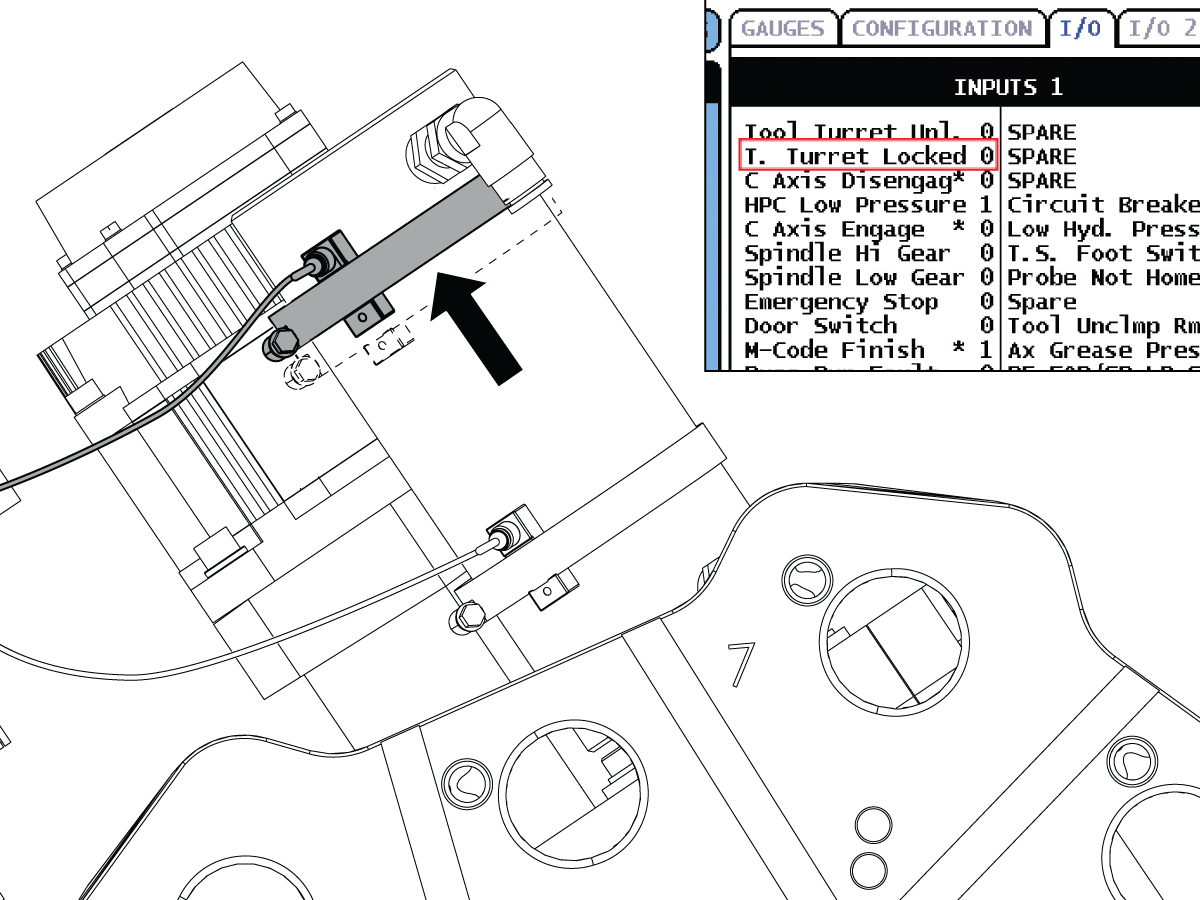 Turret Lock and Unlocked Sensors - Adjustment - ST-10/10Y