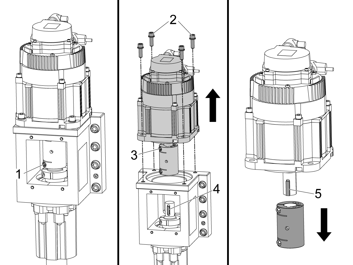 Vertical Axis - Servo motor - Replacement