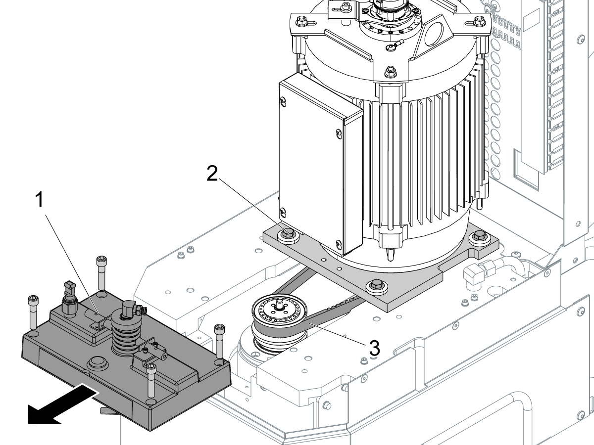 40-taper - belt  gearbox drive - spindle - replacement