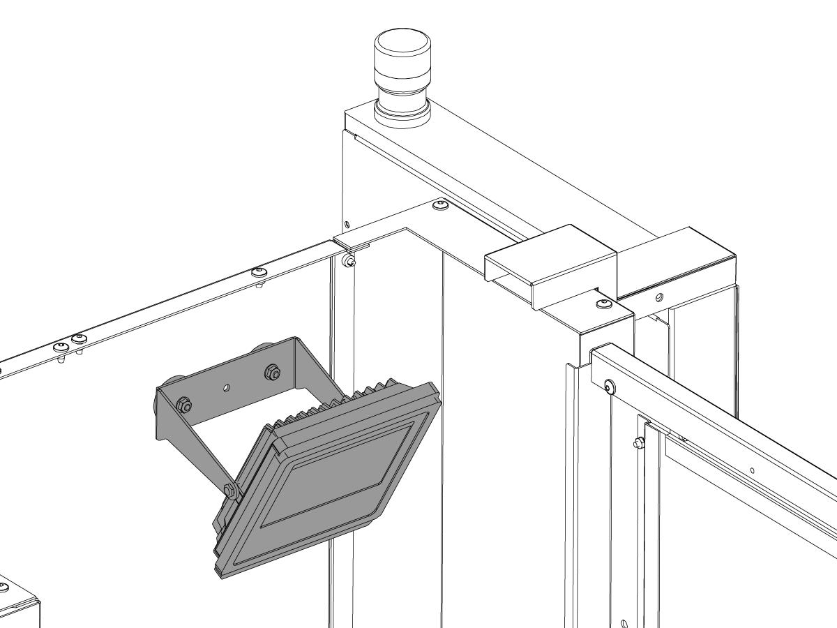 work light kit - installation - mini mill - toolroom mill