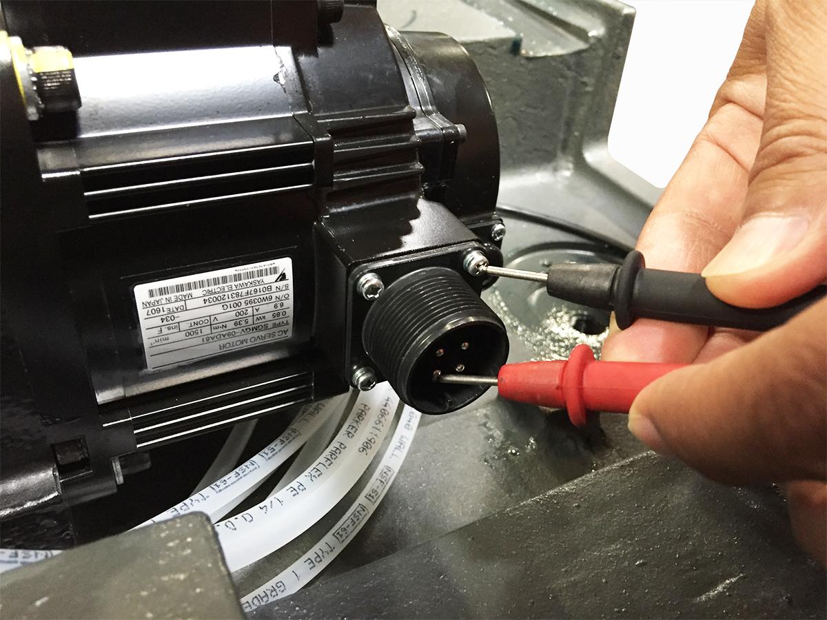 Servo Motor Short Circuit Inspection